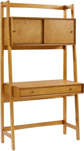 wooden ladder desk for small spaces