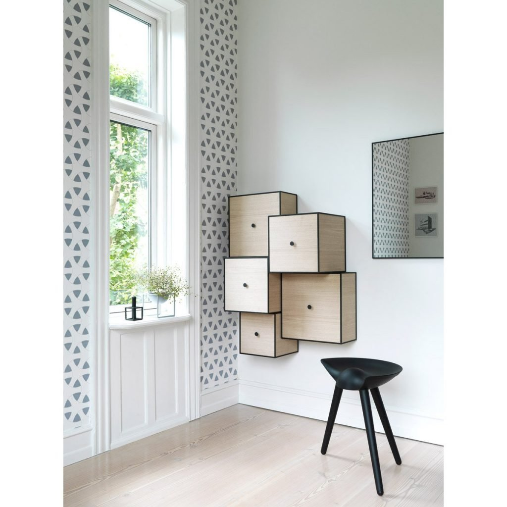 wall mounted box storage for entryway