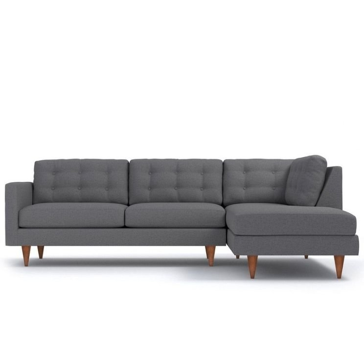 Gray sectional sofa for apartment