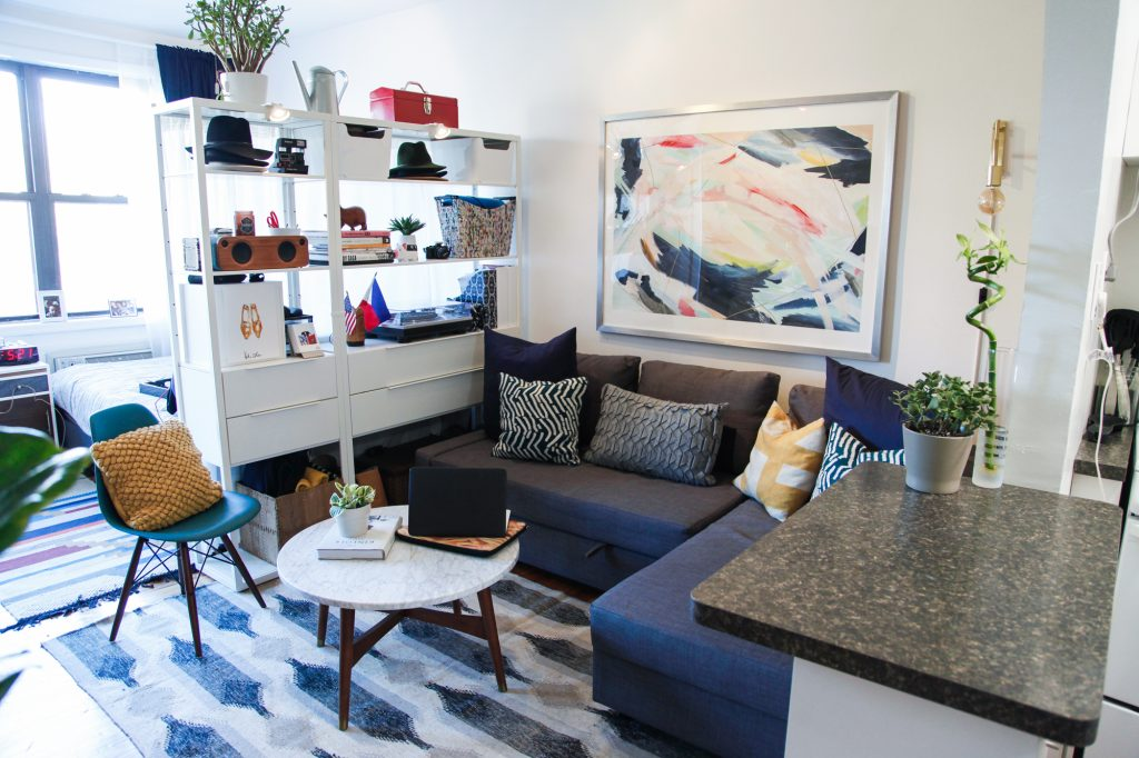 small studio living room decor