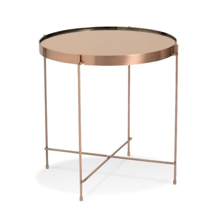 copper tray table side table