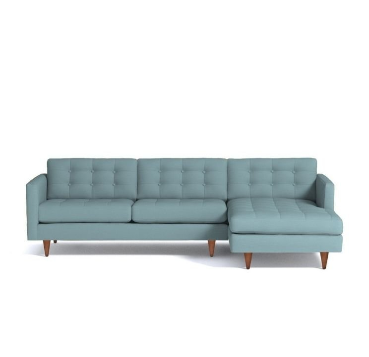 blue gray sectional sofa for apartments