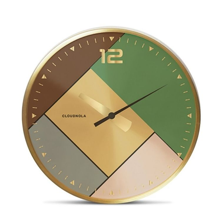 modern gold and green clock