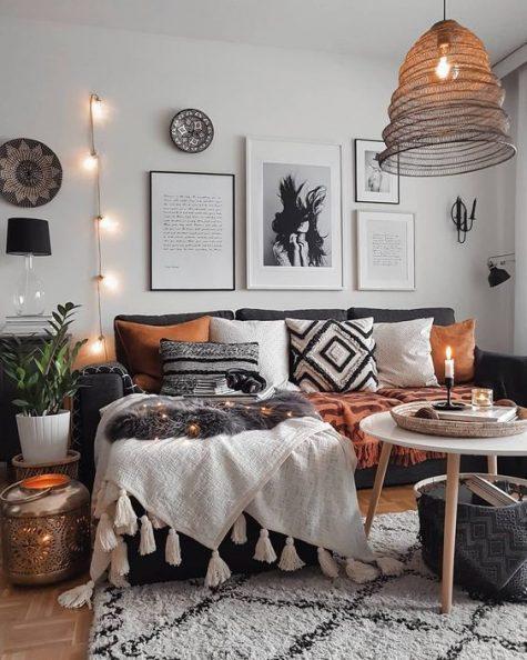 small bohemian living room decor