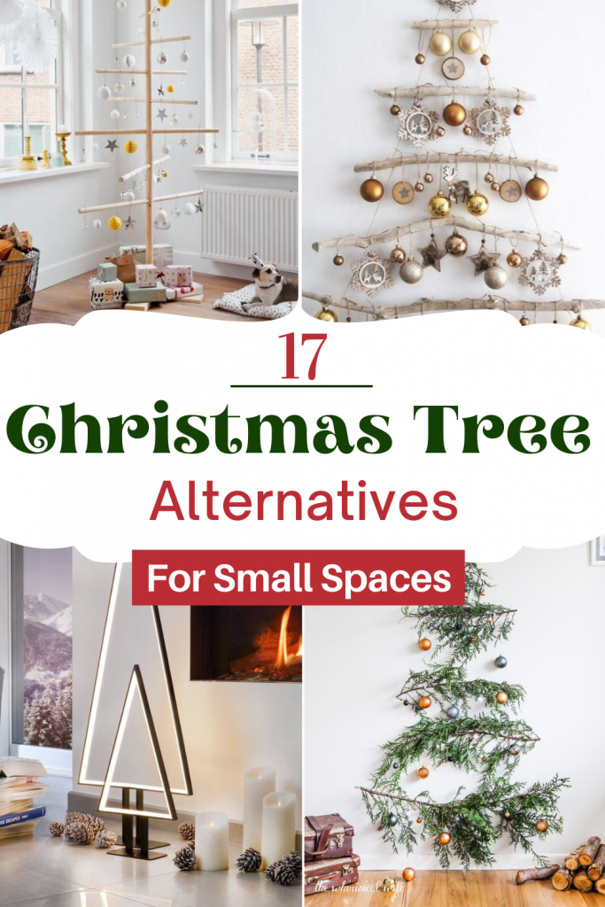 The Most Unique Christmas Tree Alternatives For Small Spaces