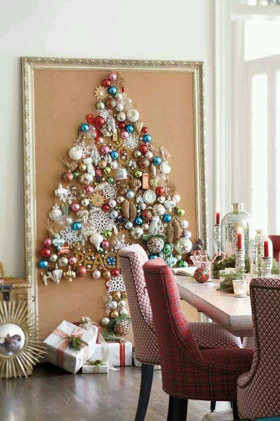 large framed wall christmas tree