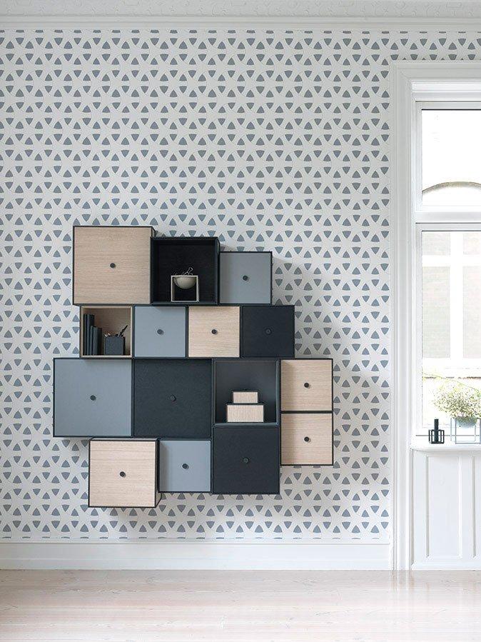 modular wall storage box frame