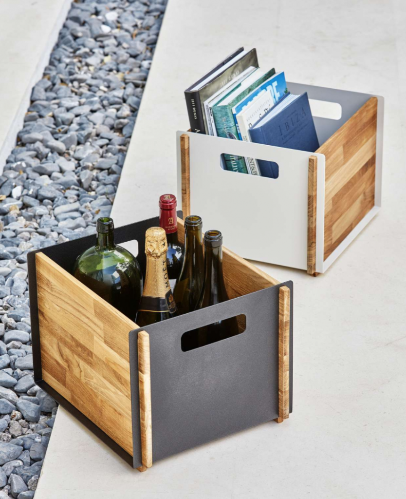 industrial style storage boxes