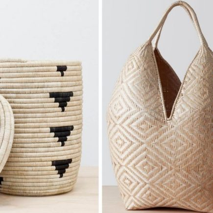 decorative hand woven artisan baskets