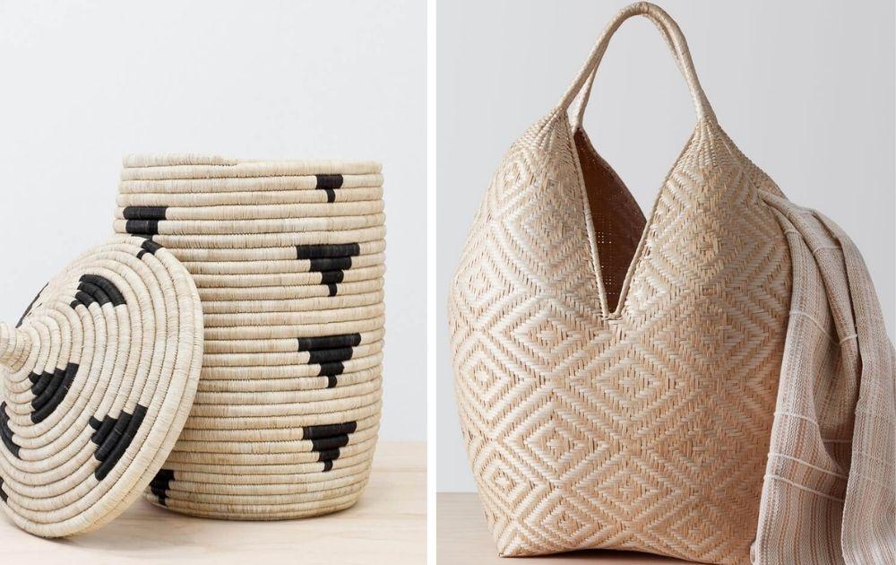 decorative hand woven artisan baskets