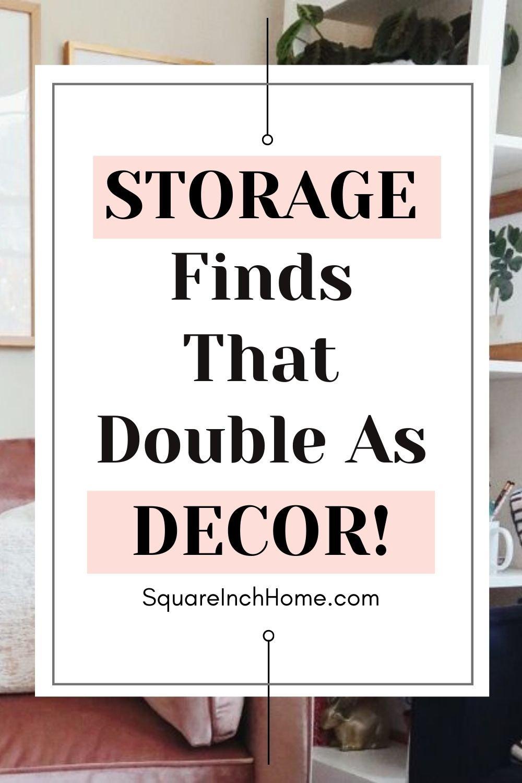 decorative storage pinterest