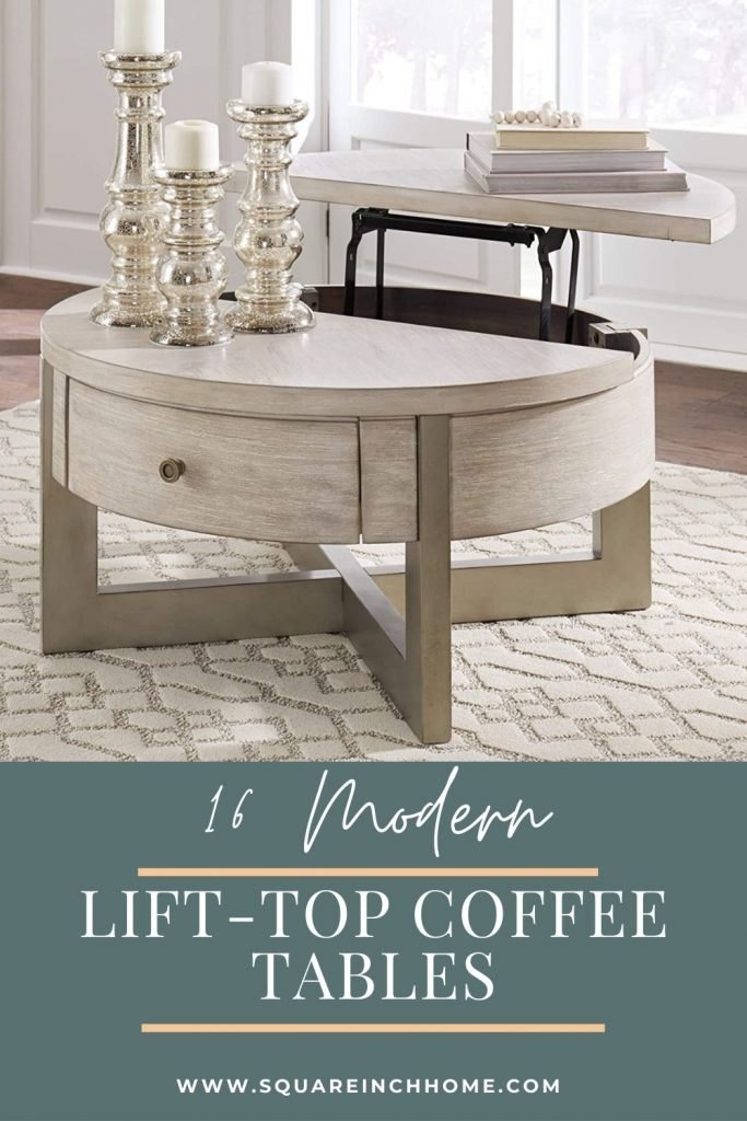 16 modern lift-top coffee tables with storage pinterest