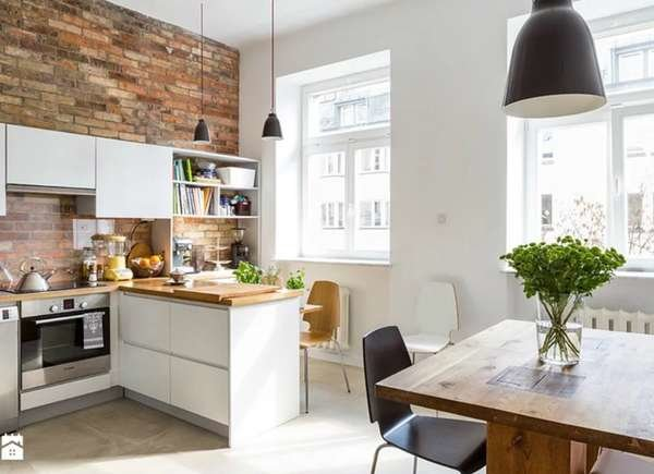 office in small apartment kitchen