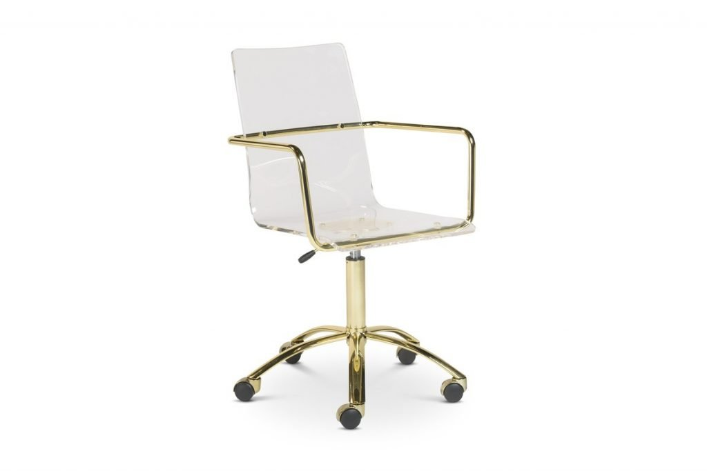 acrylic clear and golf office chair with wheels
