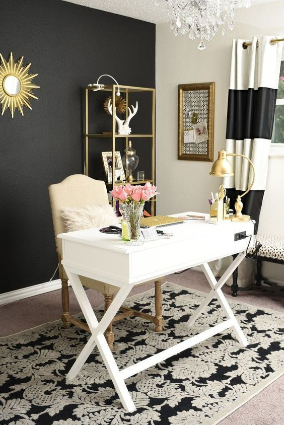 15 Delightfully Feminine Office Setups How To Get The Look