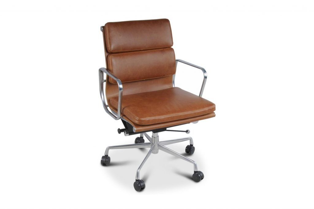 faux leather low back office chair