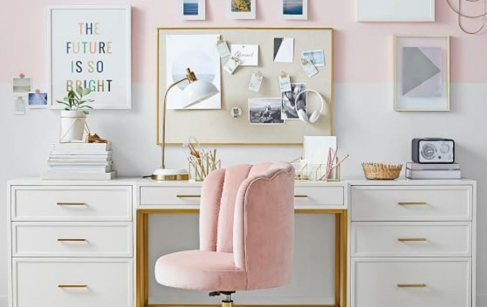 feminine office decor ideas