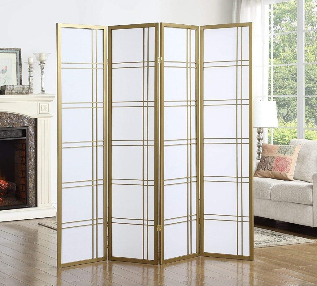 gold panel room divider