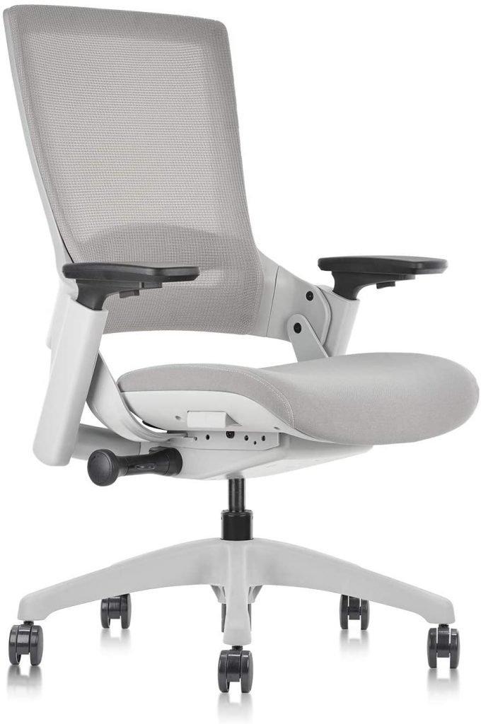 gray ergonomic swivel office chair