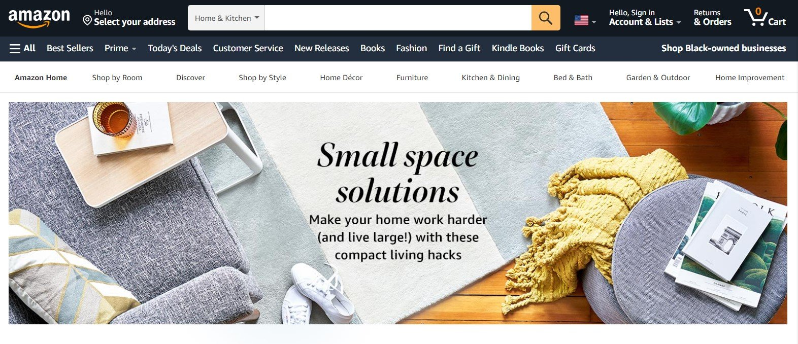 Amazon'd hidden section for small space solutions