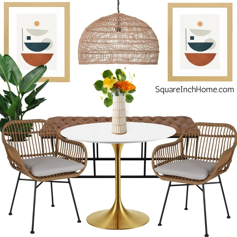 warm earthy breakfast nook ideas for small spaces