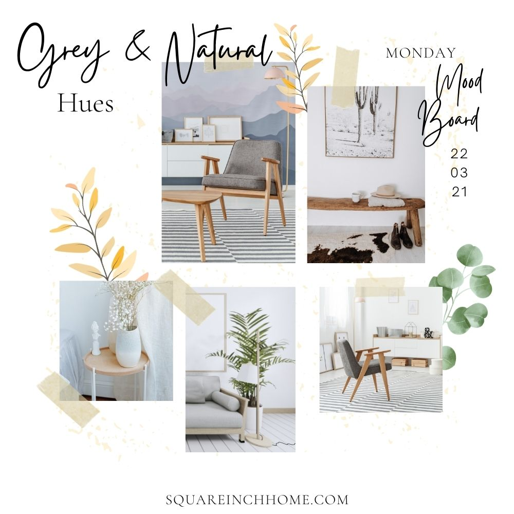 natiral and grey decor aesthetic