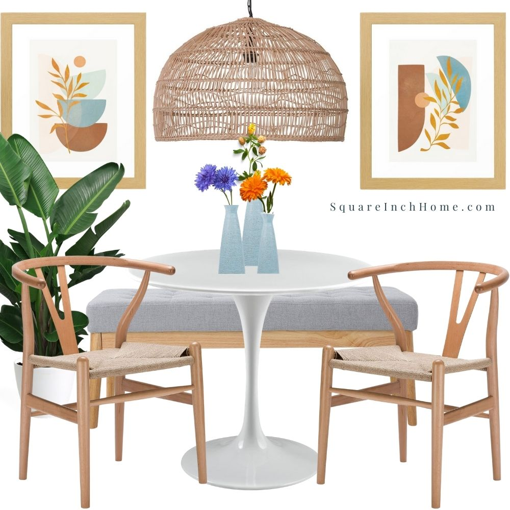 natural and grey breakfast nook ideas for small spaces