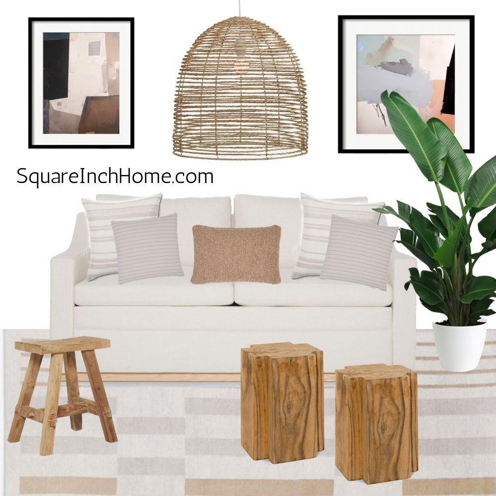 small cozy california style living room decor