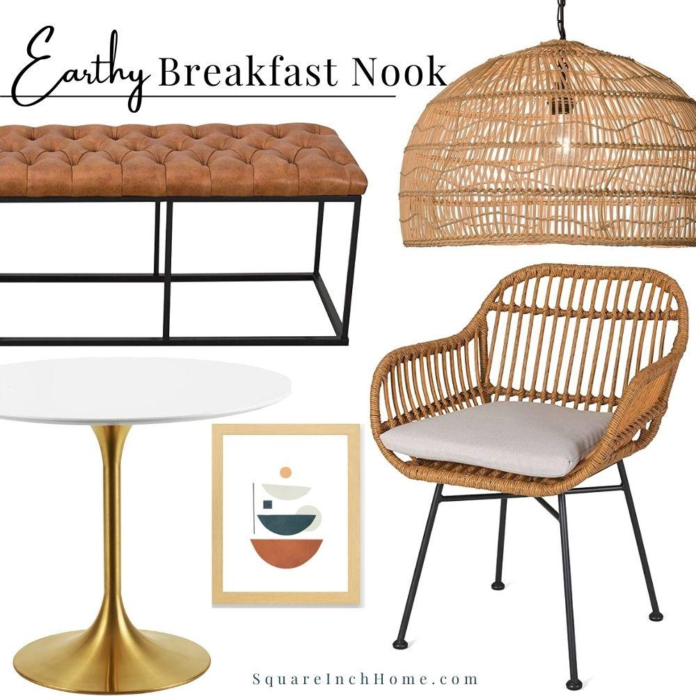 earthy breakfast nook ideas