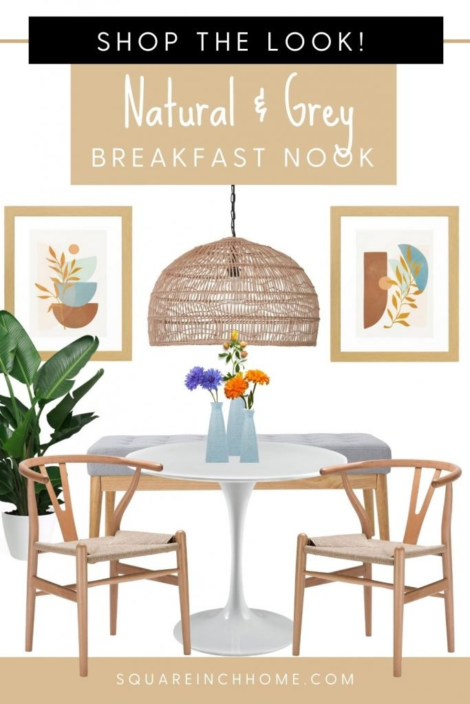 natural and grey breakfast nook ideas pinterest