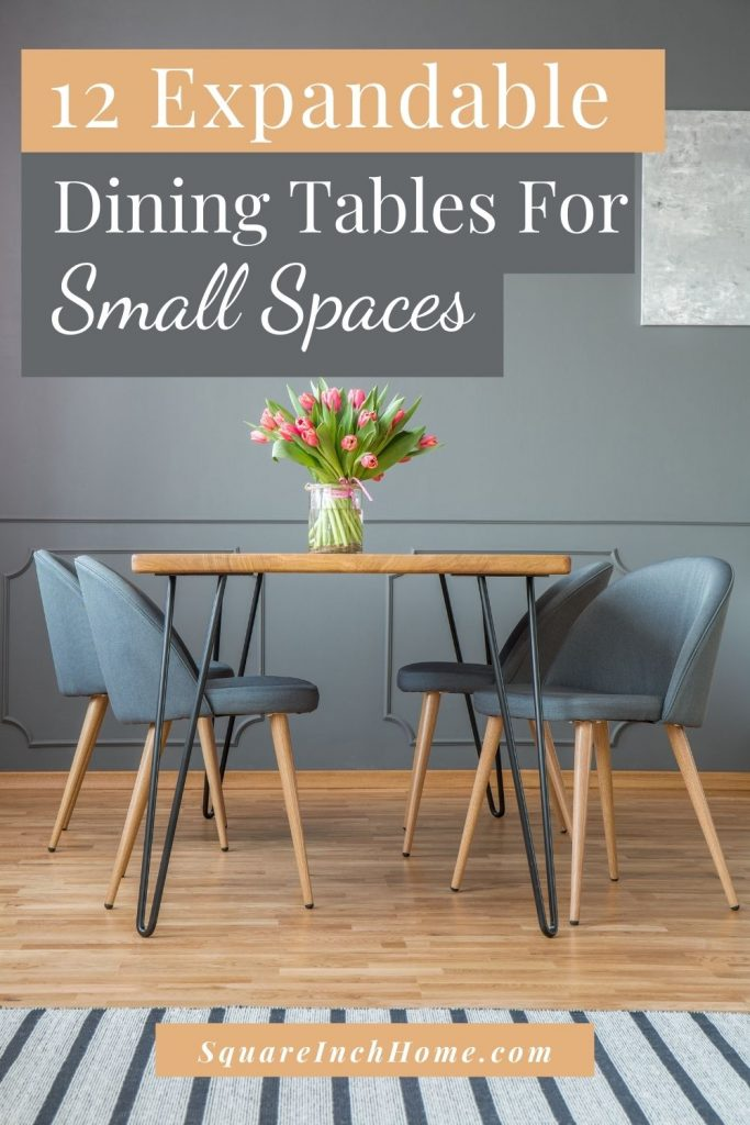 expandable extendable dining tables for small spaces