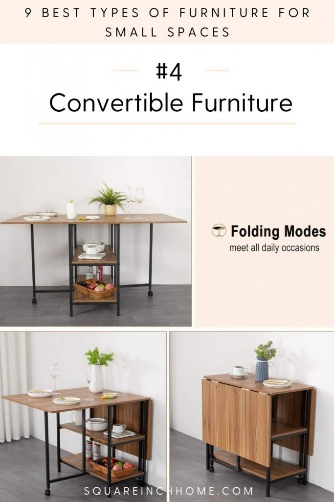 best types of furniture for small spaces convertible furniture