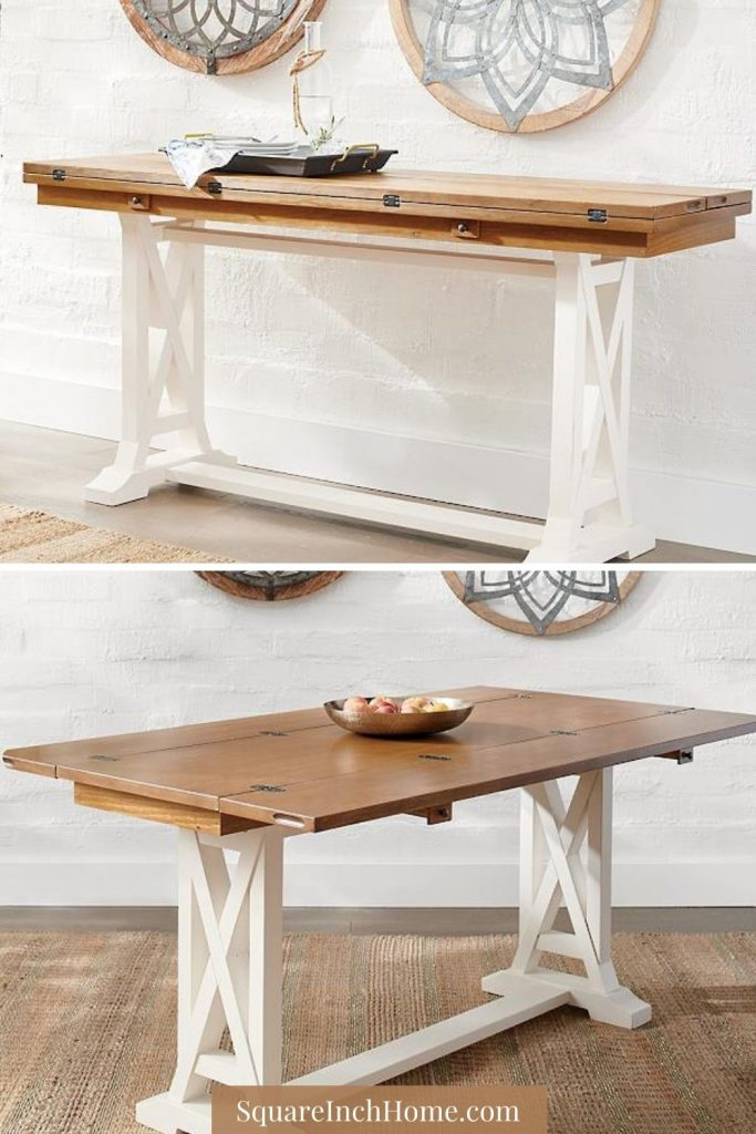 cottage styled expandable dining table