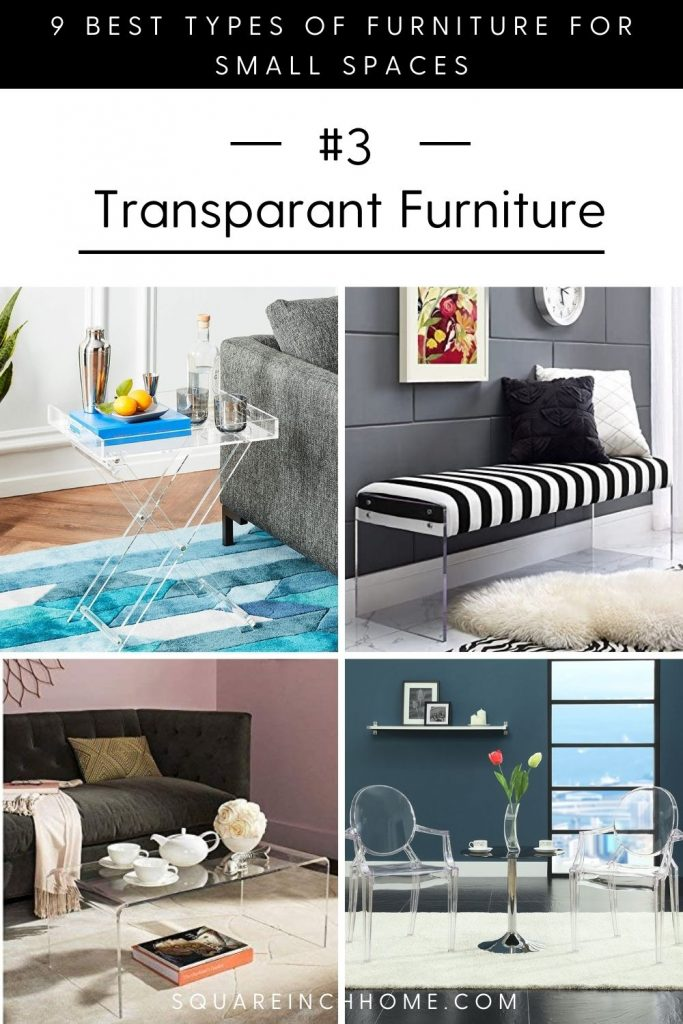 best types of furniture for small spaces acrylic furniture