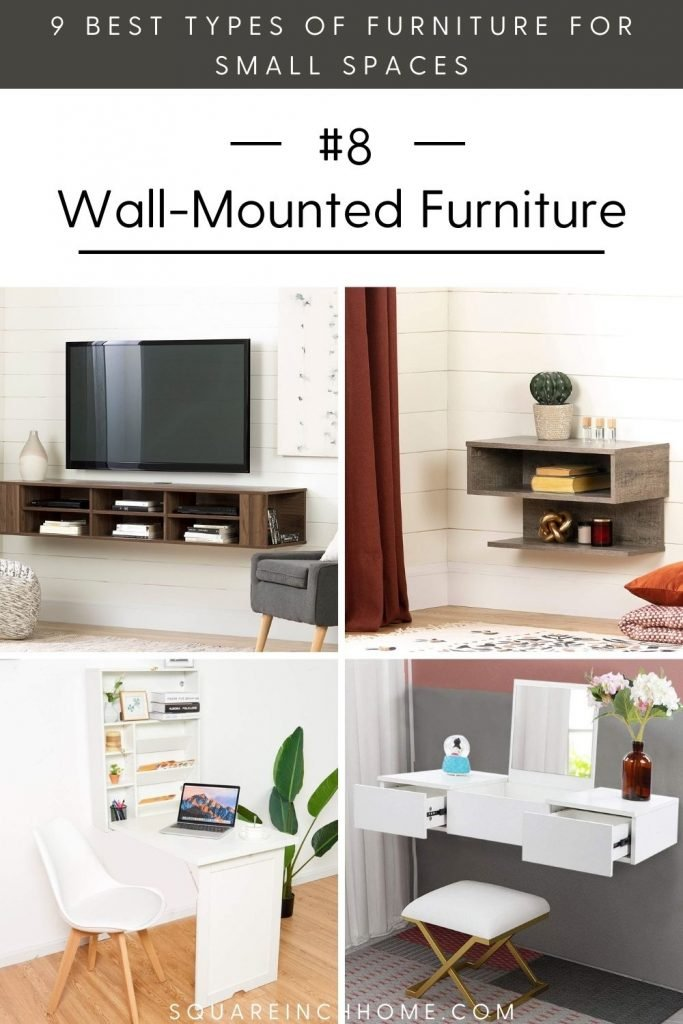 best furniture for small spaces wall mounted furniture