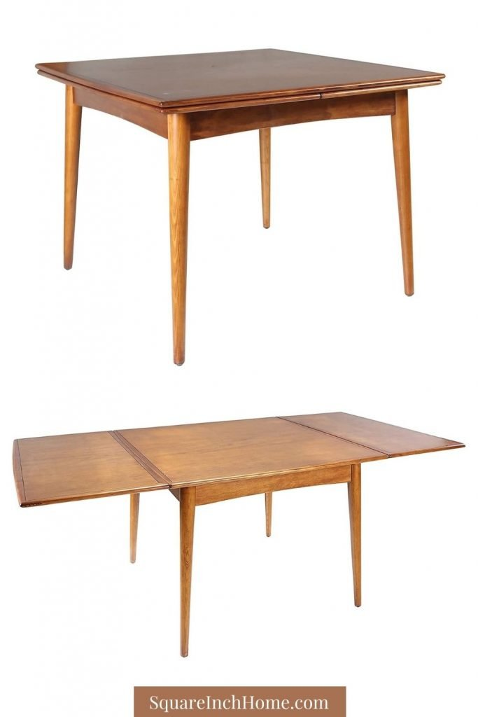 mid-century modern expandable dining table