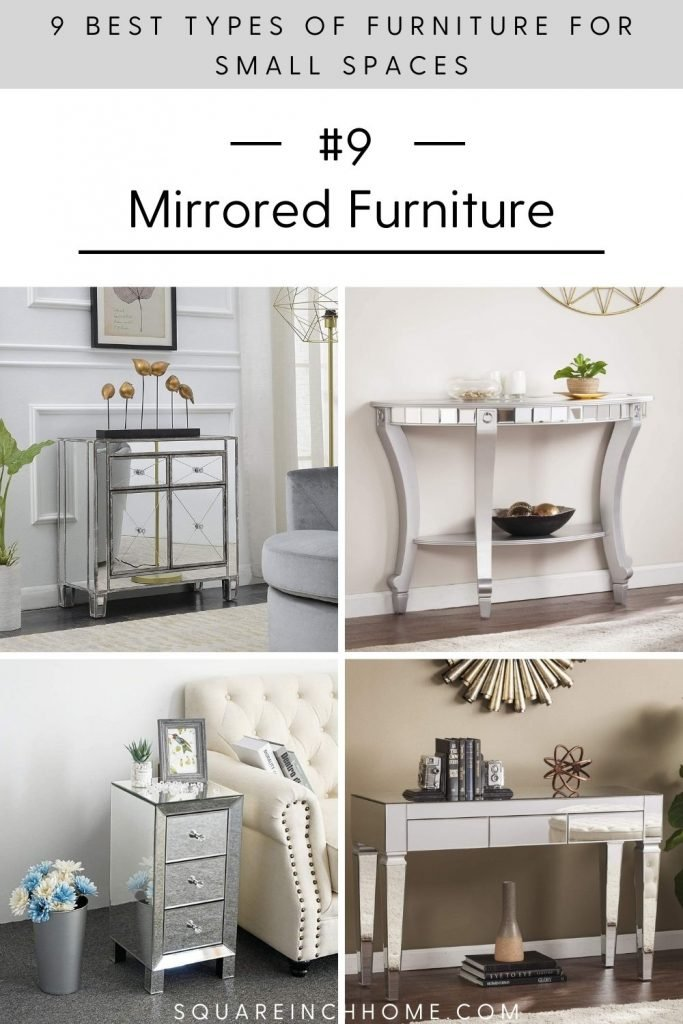 mirrored furniture for small spaces