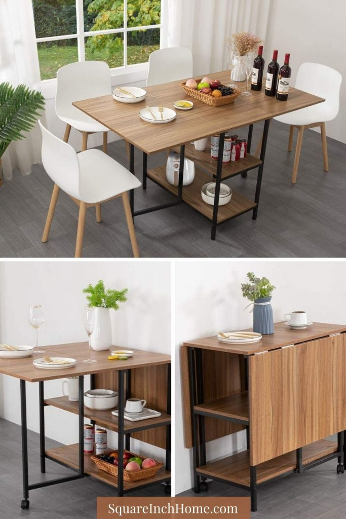 multipurpose folding dining table with storage