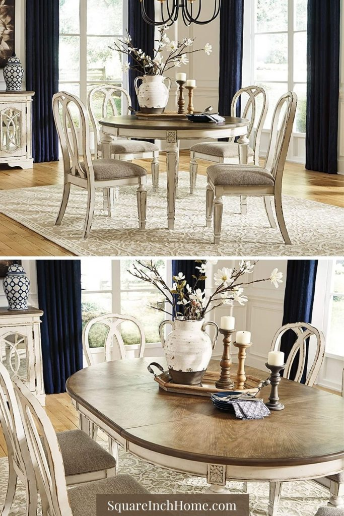 French-Country Style extendable dining table