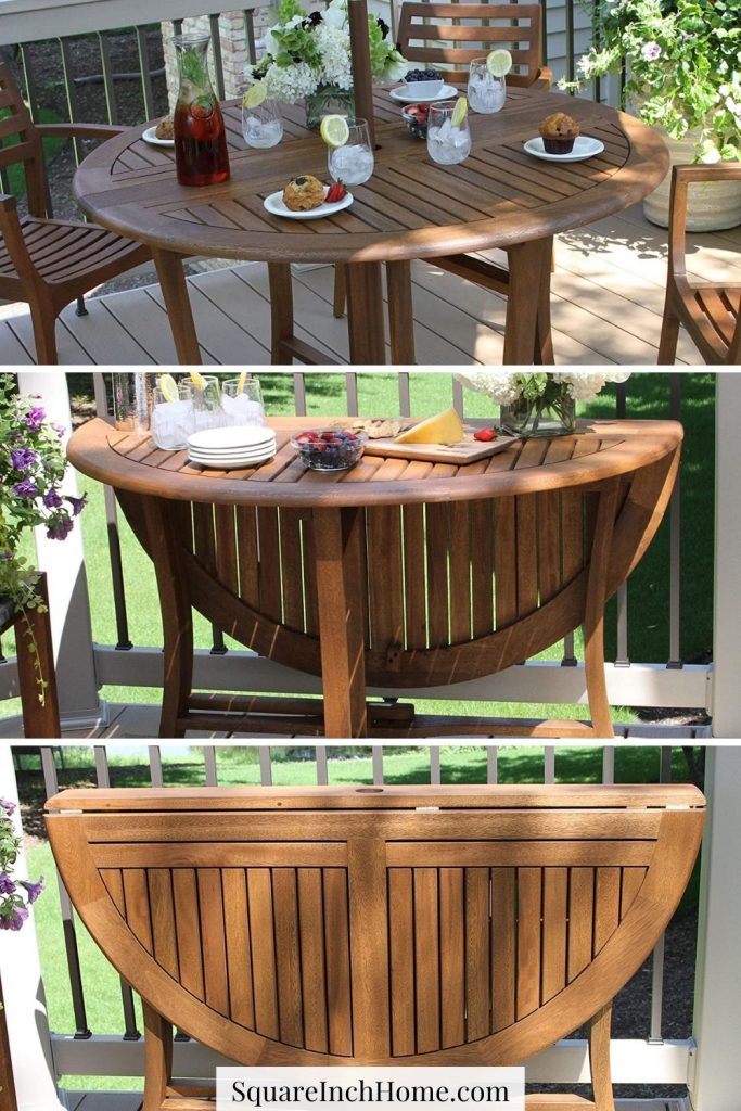 Outdoor Folding expandable dining table