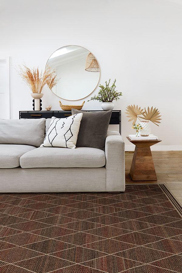 natural diamond washable jute style rug