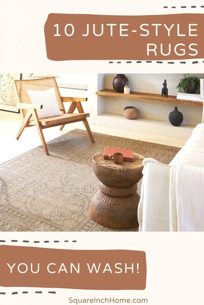 best washable jute style rugs