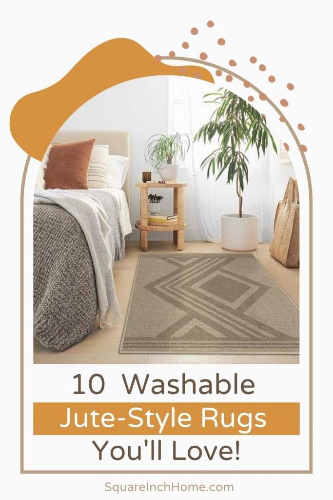 10 washable jute style rugs