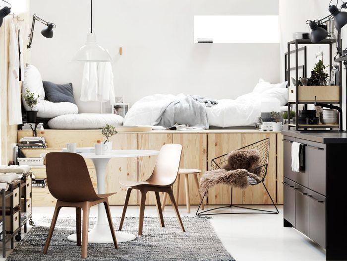 small loft studio apartment layout