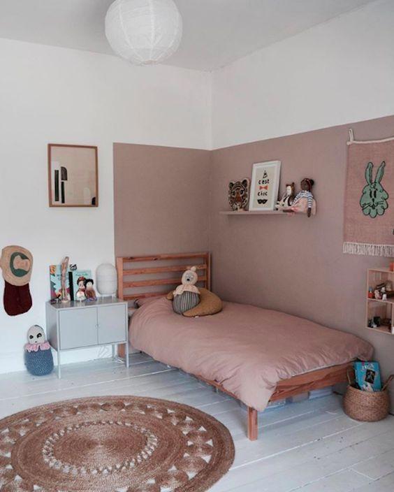 color blocking for girls bedroom