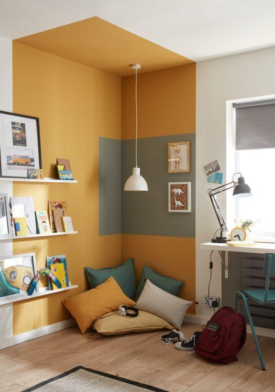 color blocking idea for corner