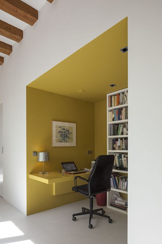 color blocking ideas for office nook