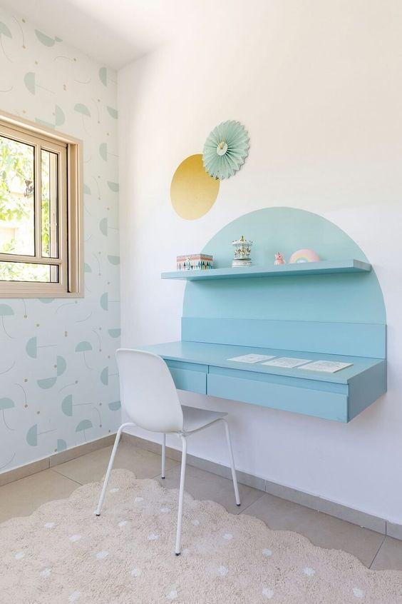 semicircle color blocking shelves