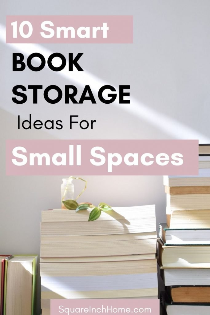 book storage ideas for small apartment
