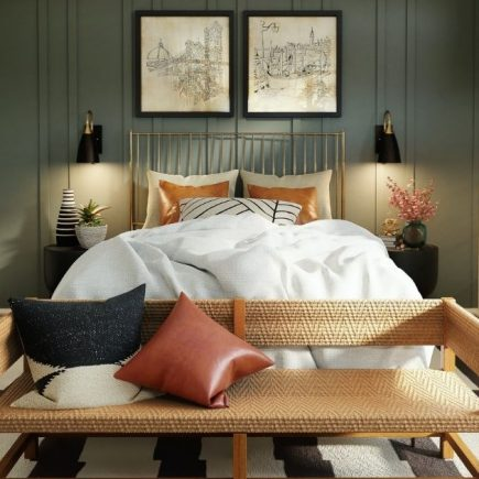 decorate a small bedroom on a budget